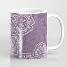 Mandala Tulips in Lavender ad Cream Coffee Mug