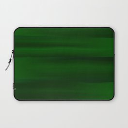 Emerald Green and Black Abstract Laptop Sleeve