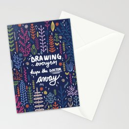 Optimistic quote Stationery Cards