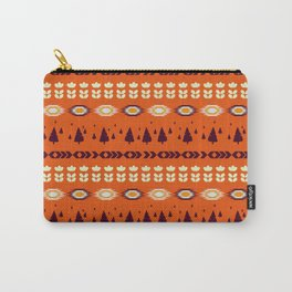 Holiday pattern with Christmas trees Carry-All Pouch