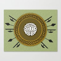shield Canvas Prints featuring Shield  by Daniac Design