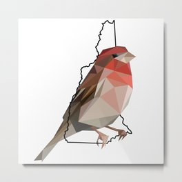 New Hampshire – Purple Finch Metal Print