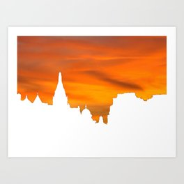 Sunset over London skyline bywhacky Art Print