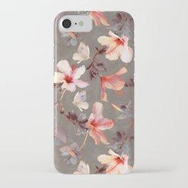 Coral Hibiscus iPhone Case