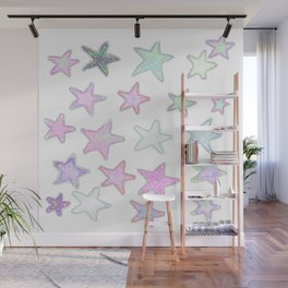 Funky Pastel Stars! Wall Mural