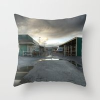 industrial Throw Pillows featuring Industrial by Crystal Dodds-Donnelly