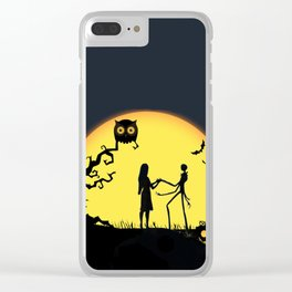Jack and Sally-Nightmare Clear iPhone Case