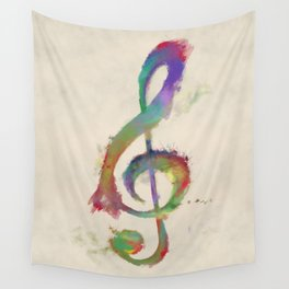 Treble Clef Wall Tapestry