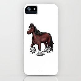 Clydesdale horse Scotish Pony Present Cartoon iPhone Case