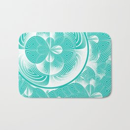 Light turquoise abstract Bath Mat