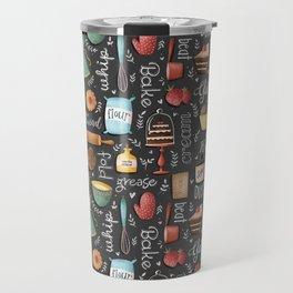 Bake Love Pattern Travel Mug