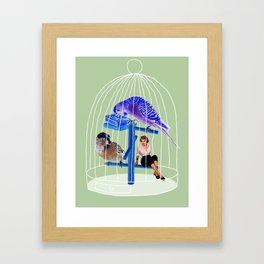 Birdie // Caged Framed Art Print