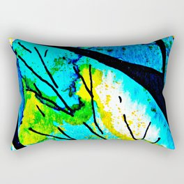 The time to bloom in flowers and colors. Celebrating the blossoming of life Rectangular Pillow