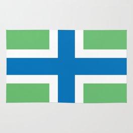 Gloucestershire county flag England region symbol severn cross Rug