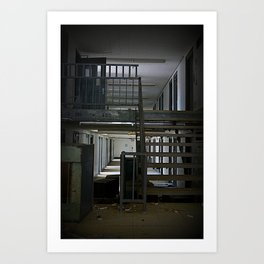 Abandoned Prison, No Walkers  Art Print