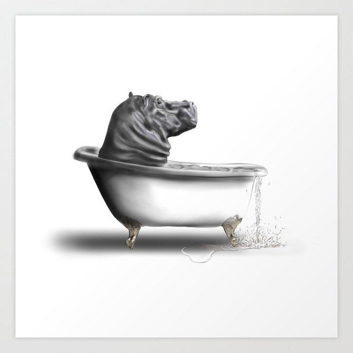 Hippo in Bath Kunstdrucke