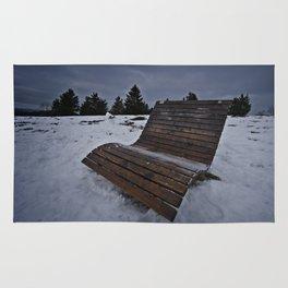 Lonley Bench At Snowy Kahler Asten Rug