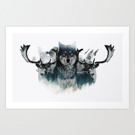 Faded Wildlife Art Print