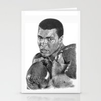 ali gulec Stationery Cards featuring Muhammed Ali by Emily J. Cole