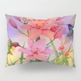 Painterly Hummingbirds And Flowers Pillow Sham