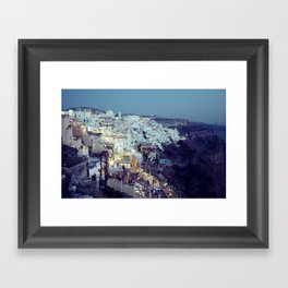 Fira at Dusk II Framed Art Print