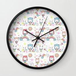 Rainbowland Wall Clock