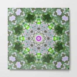 Purple Wildflower Kaleidoscope Art 8 Metal Print