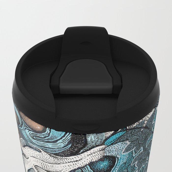 Abstract Jungle Metal Travel Mug