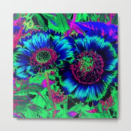 Hippie Sunflowers Metal Print
