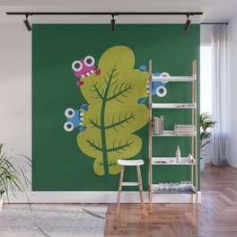Bugs Eat Green Leaf Wall Mural