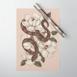 Snake and Magnolias Wrapping Paper