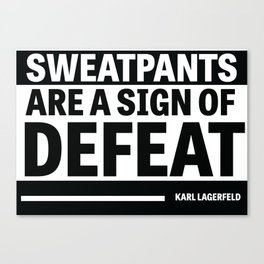 Karl Lagerfeld Quote Canvas Print