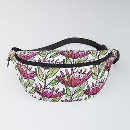 Modern Floral Protea Pink #homedecor Fanny Pack