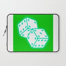Two game dices neon light design Laptop Sleeve