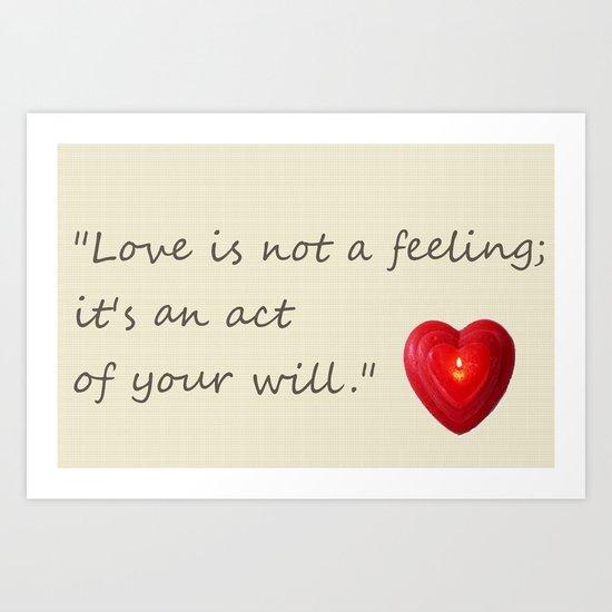 love is.. Art Print