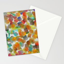 Colorful paint brushes on a white background Stationery Cards