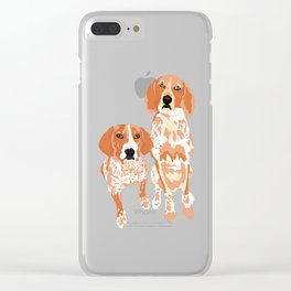 Gracie and George Clear iPhone Case