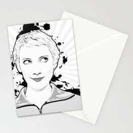 Pop Art, Portrait of Women Looking Up Stationery Cards