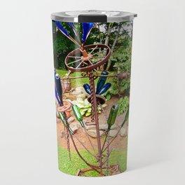 Glass and Steel Garden Art Travel Mug
