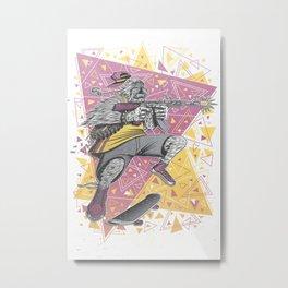 Skate Wars Yeti Metal Print