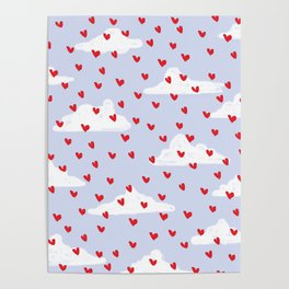 Hearts // Clouds Poster