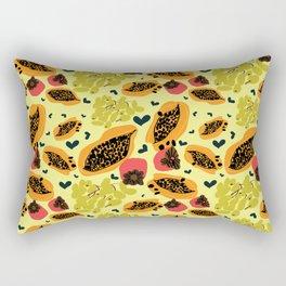 Yellow papaya grape persimmon Rectangular Pillow