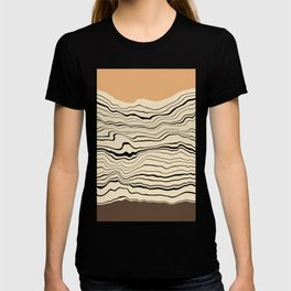 Abstract stripes pattern I T-shirt