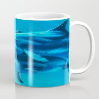 dolphin Mugs featuring Dolphin by Bocese