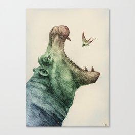All Men Are Born Eagle Canvas Print