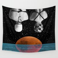 pool Wall Tapestries featuring Planet Pool by Cs025