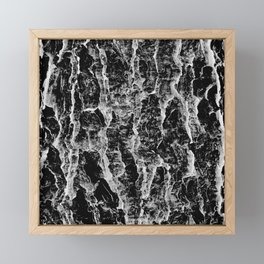Lava cascade in black and white Framed Mini Art Print