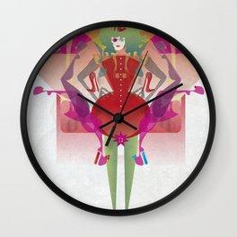 The Queen of Legs Wall Clock