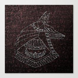 Anubis Egyptian God Canvas Print