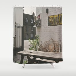 Cafe in Cambridge  Shower Curtain